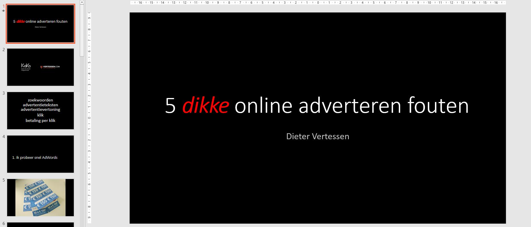 Vijf online adverteren fouten (Antwerp WordPress Meetup)