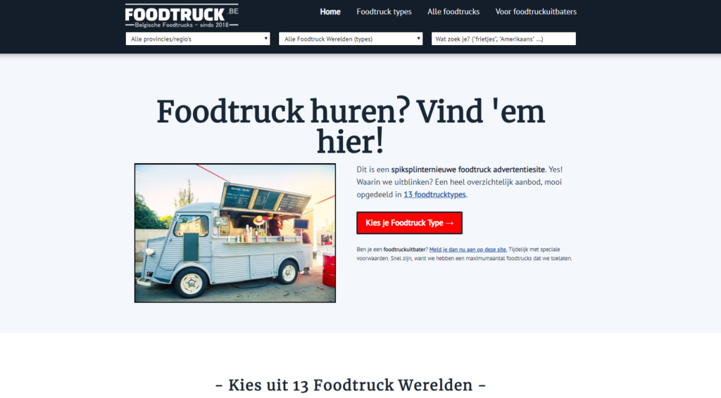 foodtruck huren website