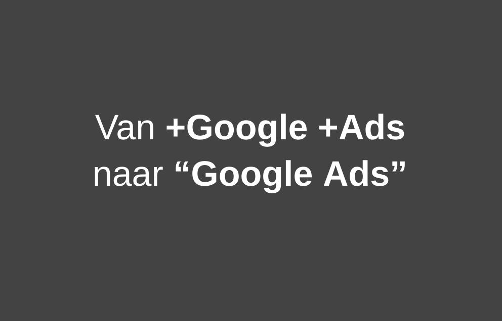 google ads zoektypen