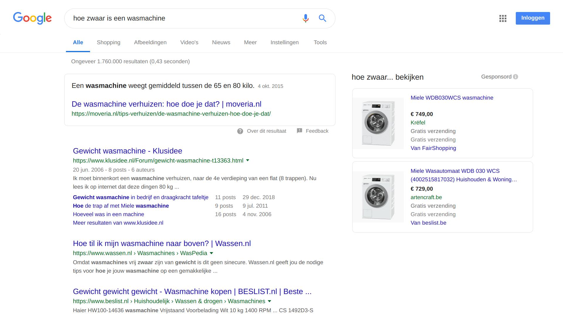 zoekmachines geven antwoorden